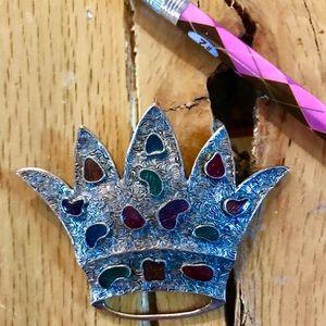 Vintage crown brooch, 1950-1960